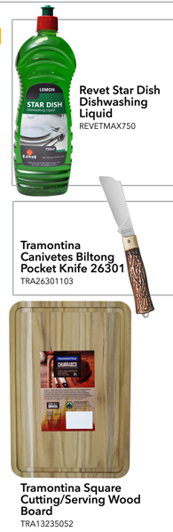 Dishwashing liquid, Biltong Knife, Wood Cutting Board